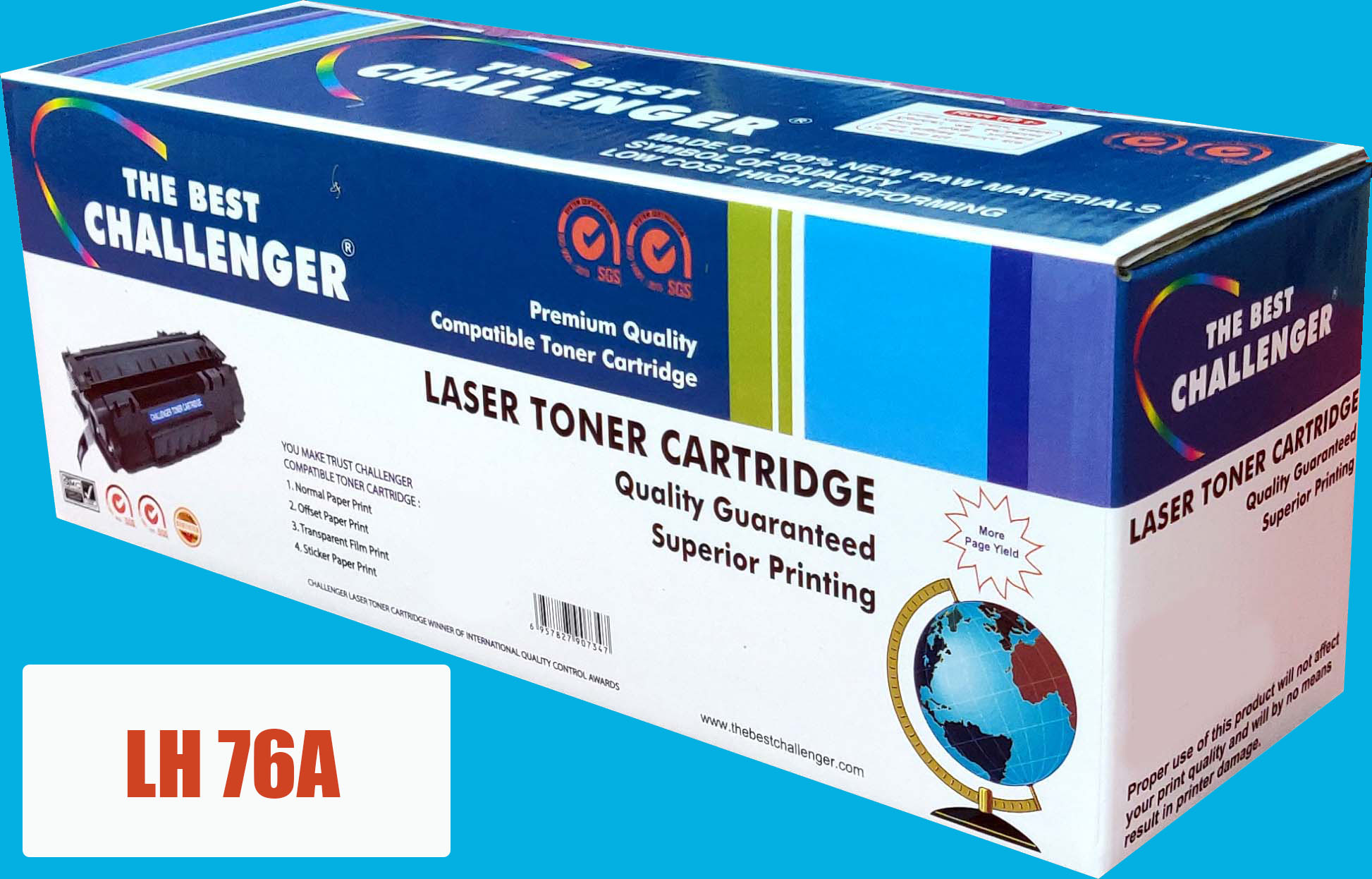 Challenger LH 76A Toner (without chip)